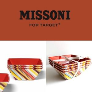Missoni For Target 20th Anniversary 4 Cereal Bowls